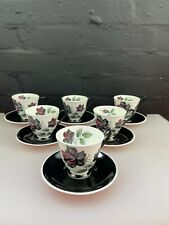 6 x Royal Albert Masquerade Coffee Cups and Saucers 2 Sets Available