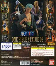 One Piece Zoro Robin Statue 02 BANDAI Gashapon Japan Anime Mini Figure 5 pcs