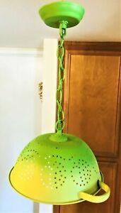 💚 Vintage Spirited Strange Colander Wild Ombre Ceiling Kitchen Hanging Light