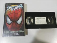 SPIDER-MAN EL ULTIMO ENCUENTRO CON EL VILLANO - VHS CINTA TAPE CASTELLANO &