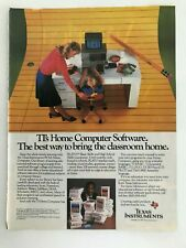 Texas Instruments Home Computer Software Bill Cosby Vintage 1983 Print Ad