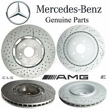Mercedes W212 W218 AMG Pair Set 2 Front & Rear Disc Brake Rotors Slotted Drilled