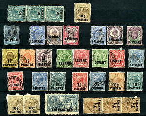 British LEVANT Small collection of 32