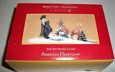 Dept. 56 2004 Home Town Traditions PINE TREE ANIMALS EXCELLENT WITH BOX RARE