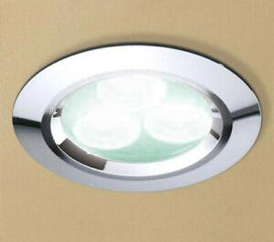 HIB Cool White LED Chrome Downlight 5750 Shower Bathroom Ceiling Spotlight Light