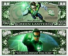GREEN LANTERN Novelty Dollar Bill & protector & free shipping