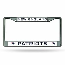 New England Patriots Chrome Metal Laser Cut License Plate Frame NFL Football New