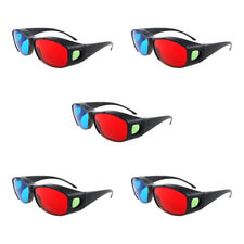 5x New Red Blue 3D Glasses Frame For Dimensional Anaglyph Movie DVD Game
