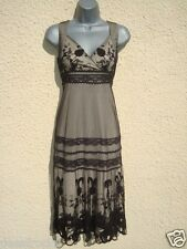 NEXT SIZE 6 DRESS BLACK LACE BEIGE LINED EVENING PARTY HOLIDAY SMART~ US 2 EU 34