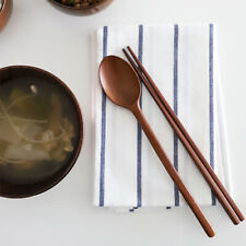 Wooden spoon Chopsticks Set Korean Wood Soup For Eating Mixing Strring Handle