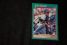 JOE GIRARDI 1991 SCORE SIGNED AUTOGRAPHED CARD #585 CUBS YANKEES
