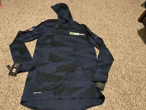 Nike Men's Seattle Seahawks L/S Player Hoodie Tee Size: 2XL NWT 2020 Navy Blue