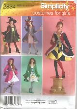 Simplicity Sewing Pattern 2834, Costume Dress, Coat, Hat, Size Ch 7 - 14 Uncut