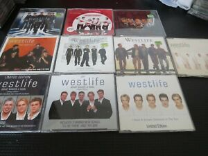 WESTLIFE - LOT OF 10 CD SINGLES. ALL LISTED.