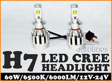 H7 LED 60W CREE 6000LM Car Xenon White Headlight Lamp High Low Kit Globes Bulbs