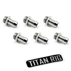 """XSPC G1/4"""" to 3/8"""" Barb Fitting for Soft Tubing, Chrome, 6-pack"""