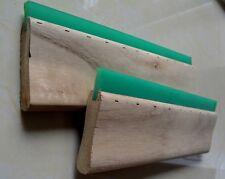 2 Pcs 13 Green Screen Printing Squeegee Wood Handle Blade Ink Scraper Diy Art