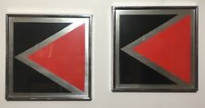 """Pair Anton Fortescu-Smyth Serigraphs """"Straight On"""" NY Abstract MCM K Initial"""