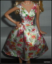 DRESS BARBIE KENTUCKY DERBY MODEL MUSE DOLL FLORAL COCKTAIL  TOP & SKIRT 2 PIECE