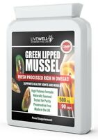 LiveWell - Green Lipped Mussel For Dogs & Humans Joint Health 500MG 90 Capsules