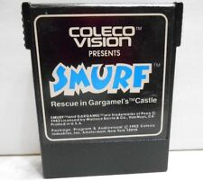 '82 COLECOVISION SMURF RESCUE IN GARGAMEL'S CASTLE VIDEO GAME CARTRIDGE UNTESTED