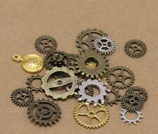 50g Pcs Lot Vintage Steampunk Wrist Watch Old Parts Gears Wheels Steam Punk S3