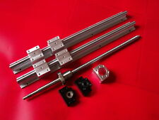 SBR16-500mm 2 linear rail+ballscrew RM1605-550mm+1 set BK/BF12 end bearing CNC