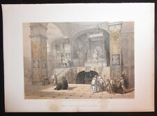 David Roberts Authentic 1855 Quarto Lithograph Pl. 32 Church of the Annunciation