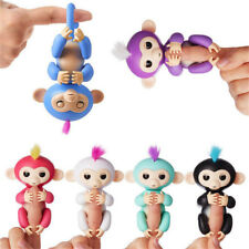 New Kids Funny Baby Finger Monkey Toys Mini Electronic Pet Robot Dolls LED Light