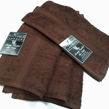 CHOCOLATE BROWN 100% COTTON TERRY FACE CLOTHS FLANNELS SIZE 30x30cm SOFT 500GSM