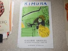 1975.affiche exposition Chuta KIMURA  (peinture ).Mourlot.