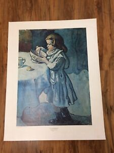 "28x22"" Le Gourmet Pablo Picasso Collector Print National Gallery Of Art"