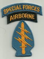 "ARMY 5TH SPECIAL FORCES AIRBORNE MILITARY PATCH Mini 3"" x 2"" 5th SF A/B"