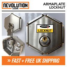 Armaplate LOCKNUT Hasp Lock Garden Shed Gates Garage Door Padlock High Security