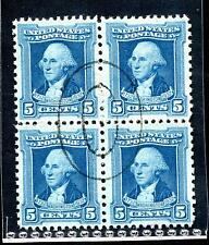 #710 Used Block - XF/Superb Centering w/ S.O.N. Muted Double Oval Cancel