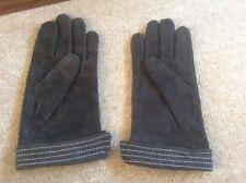 Ladies Dents brown suede gloves large BNWOT