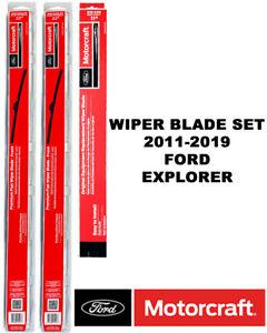 Motorcraft Premium Wiper Blades Genuine OEM Set Of 3 For Ford Explorer 2011-2019