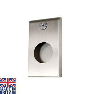Brushed Stainless Steel Sanitary Bag Holder Dispenser Hygiene Slim Lockable