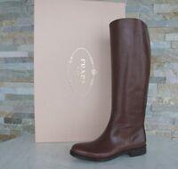 Prada Stiefel Gr 37 Damen boots Schuhe shoes 1W948D braun NEU ehem. UVP 1150 €