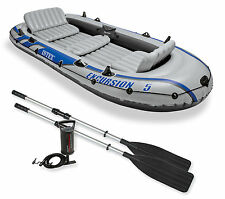 Intex Excursion 5 Boat Set + Pump + Oars 5 person Dinghy Tender  #68325