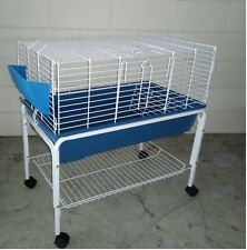 Brand New Metal Rabbit Guinea Pig Ferret Hutch Small animals Cage w Stand 78cm