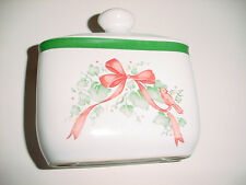 CORELLE CALLAWAY HOLIDAY CERAMIC NAPKIN HOLDER GENTLY USED FREE USA SHIPPING