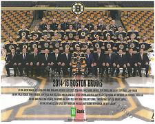 2014-2015 BOSTON BRUINS 8X10 TEAM PHOTO KREJCI BERGERON LUCIC ERIKSSON RASK