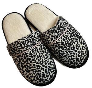 Victoria's Secret Slippers Animal Cheetah Leopard Print Size Large 9-10 NEW