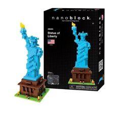Nanoblock Statue of Liberty Micro-Sized Building Block Construction toy