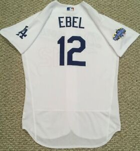 EBEL size 44 #12 2020 Los Angeles Dodgers home jersey used ALL STAR PATCH MLB