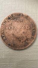 Piece 2 Sols 1792
