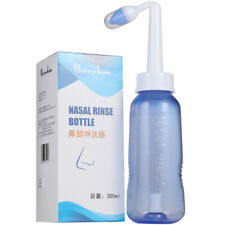 Adult Nasal Wash Neti Pot Rinse Cleaner Sinus Allergies Relief Nose Pressure FS