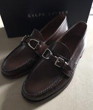 New $795 Ralph Lauren Purple Label Mens Loafer Shoes Dark Brown 9 US