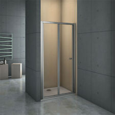 760x1850mm Frame Bi Fold Shower Enclosure Walk in 5mm Safety Glass Door Screen